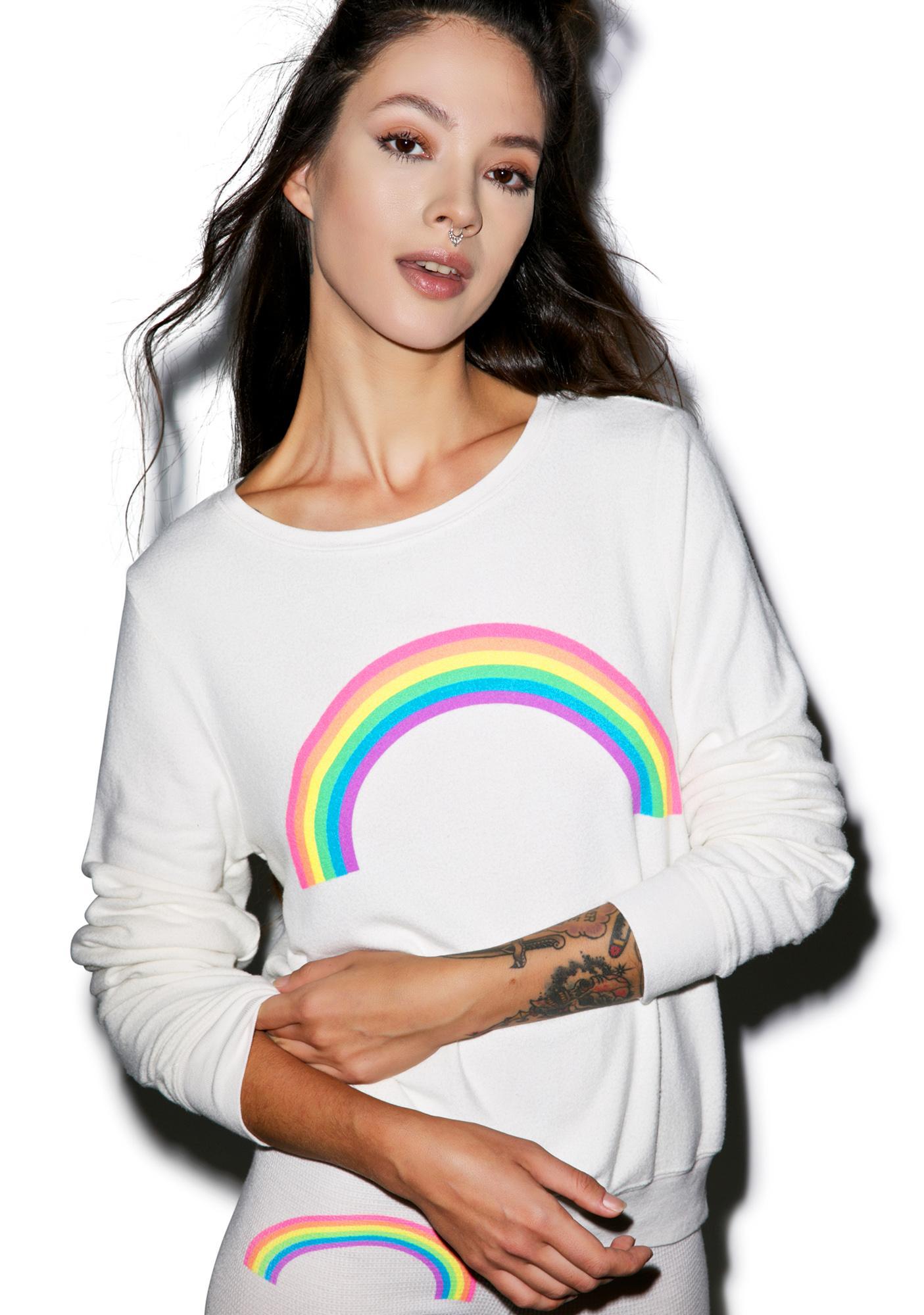 Wildfox Couture Rainbow Baggy Beach Jumper