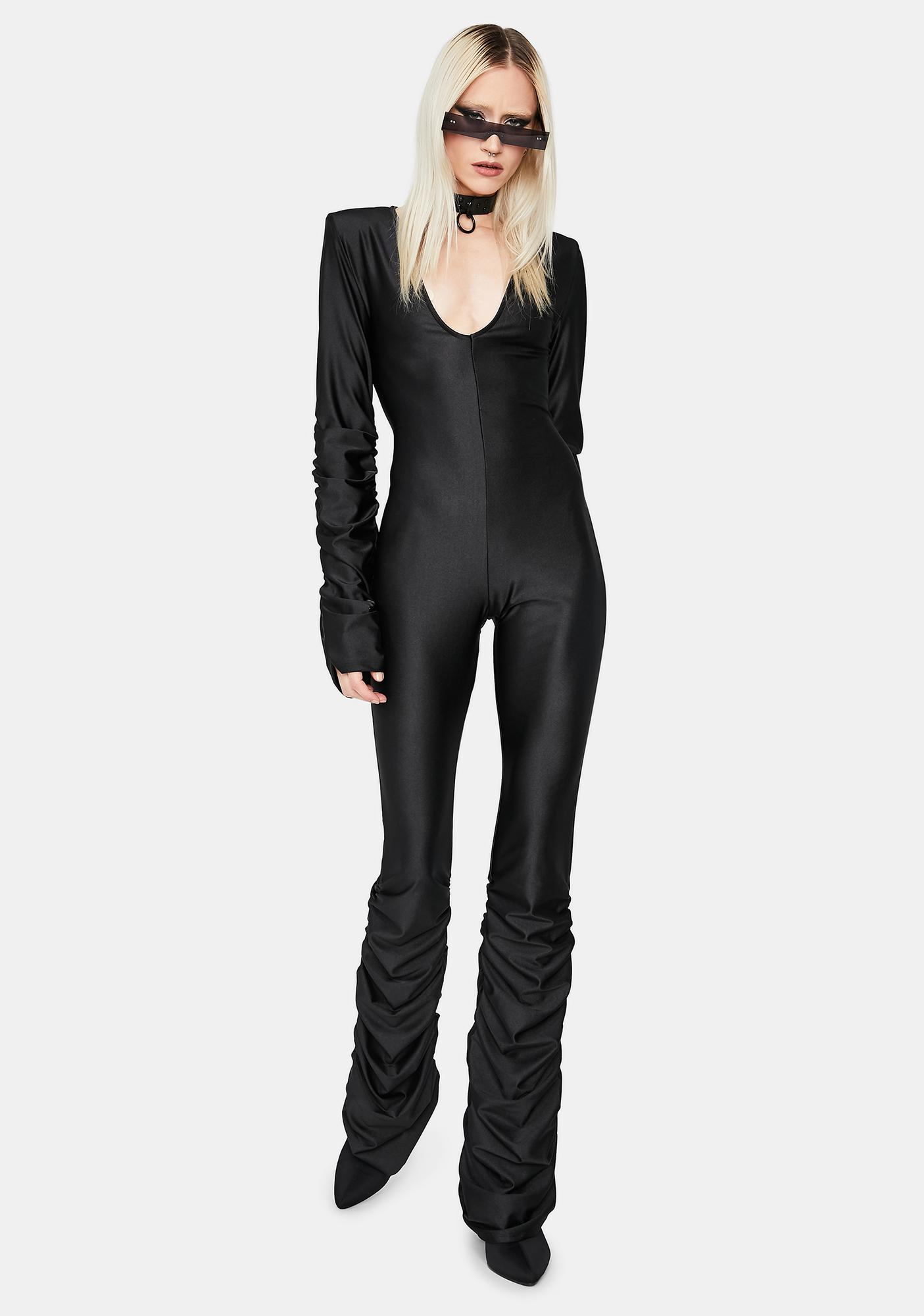 One Night Standards Ruched Jumpsuit