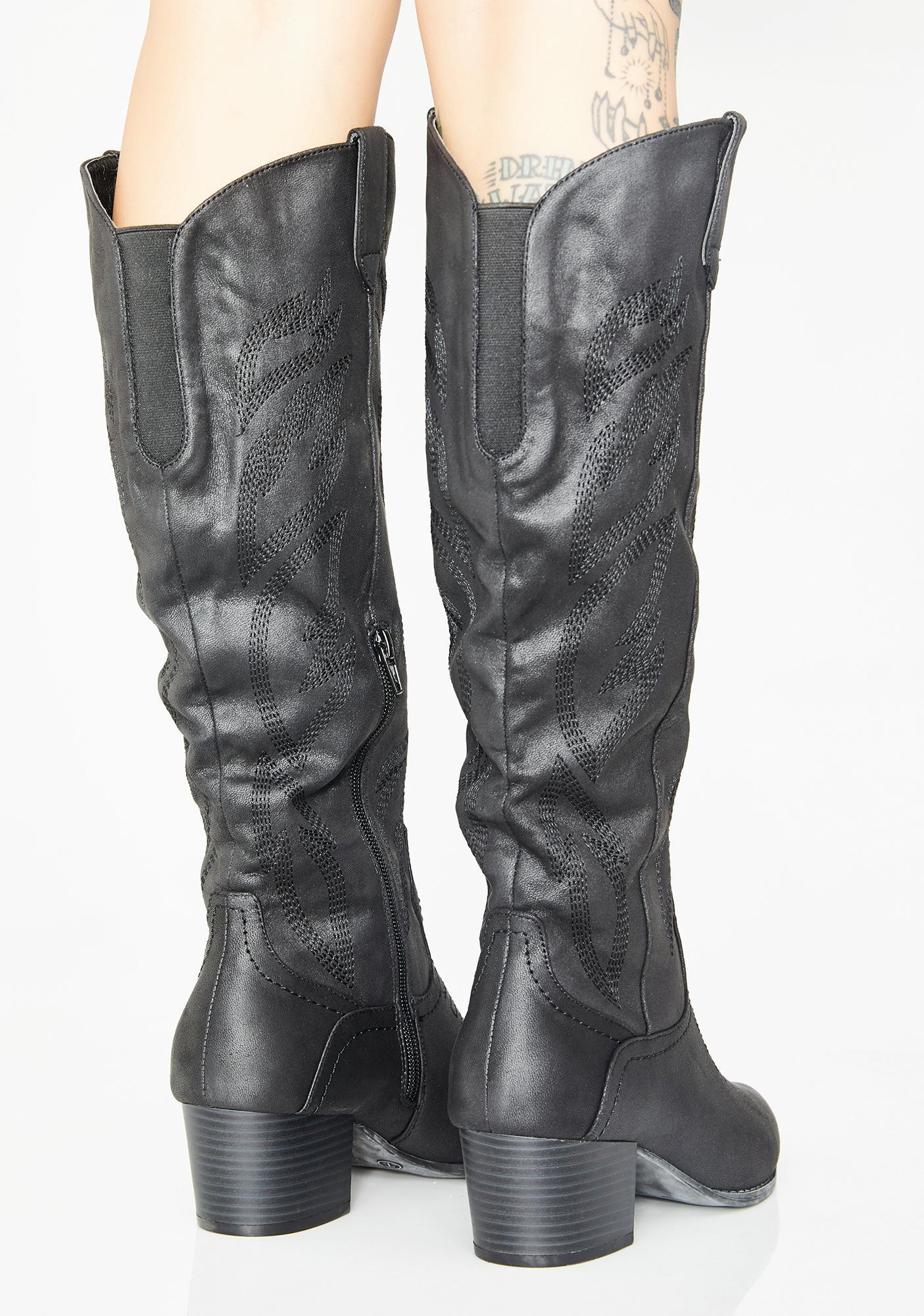 Lone Ranger Knee High Boots