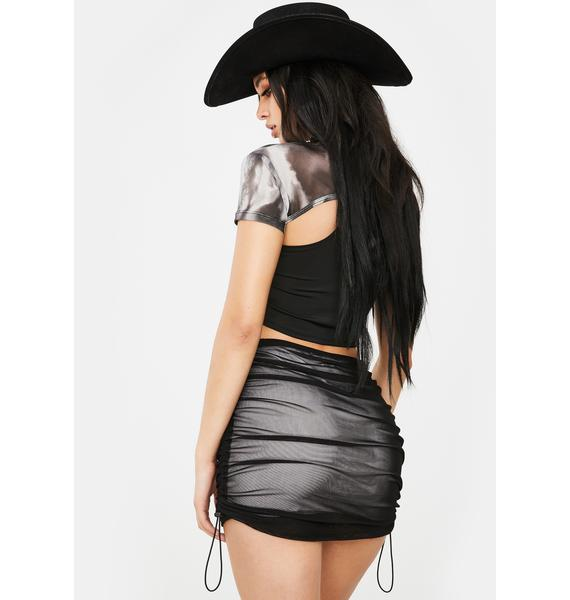 Poster Grl Vamp Know My Worth Ruched Skirt