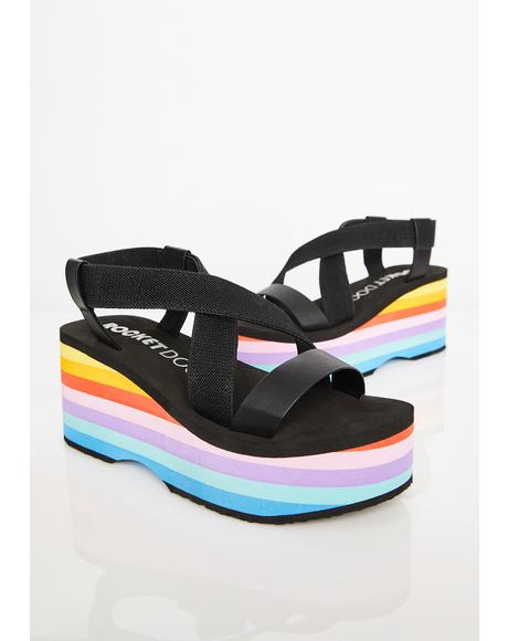 Lil Bubblegum Platform Sandals