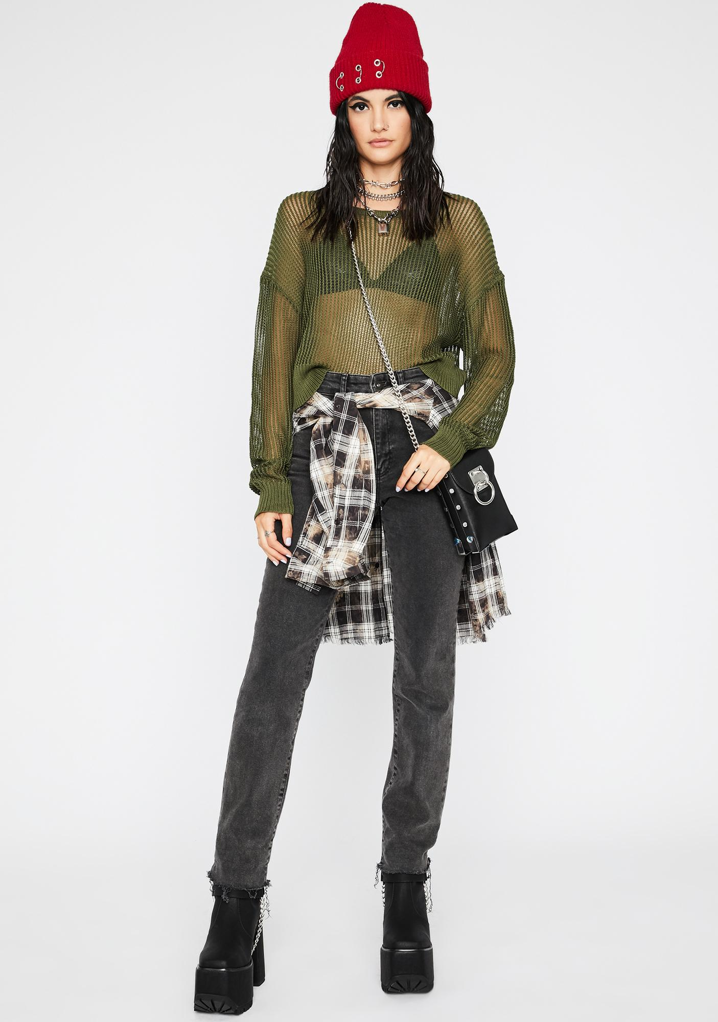 Do Or Dare Sheer Sweater