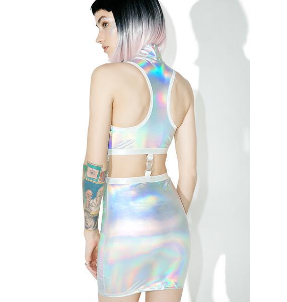 Club Exx Gravitational Hologram Dress Set