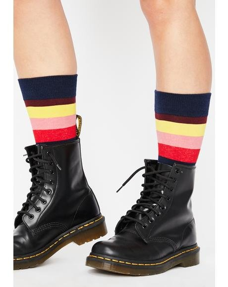Rainbow Dreamz Striped Socks