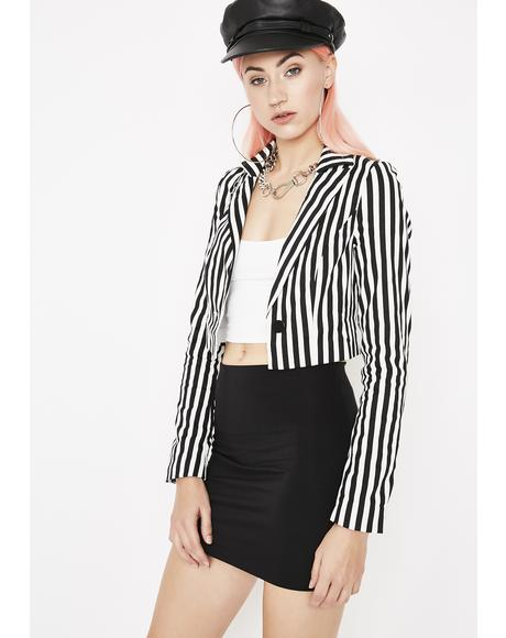 Ain't No Wifey Striped Blazer