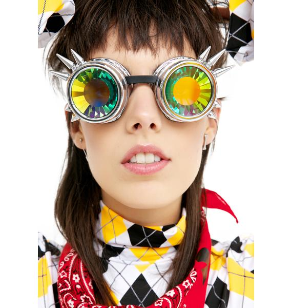 GloFx Chrome Spike Kaleidoscope Goggles