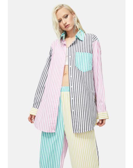 Street Elite Striped Pants Set