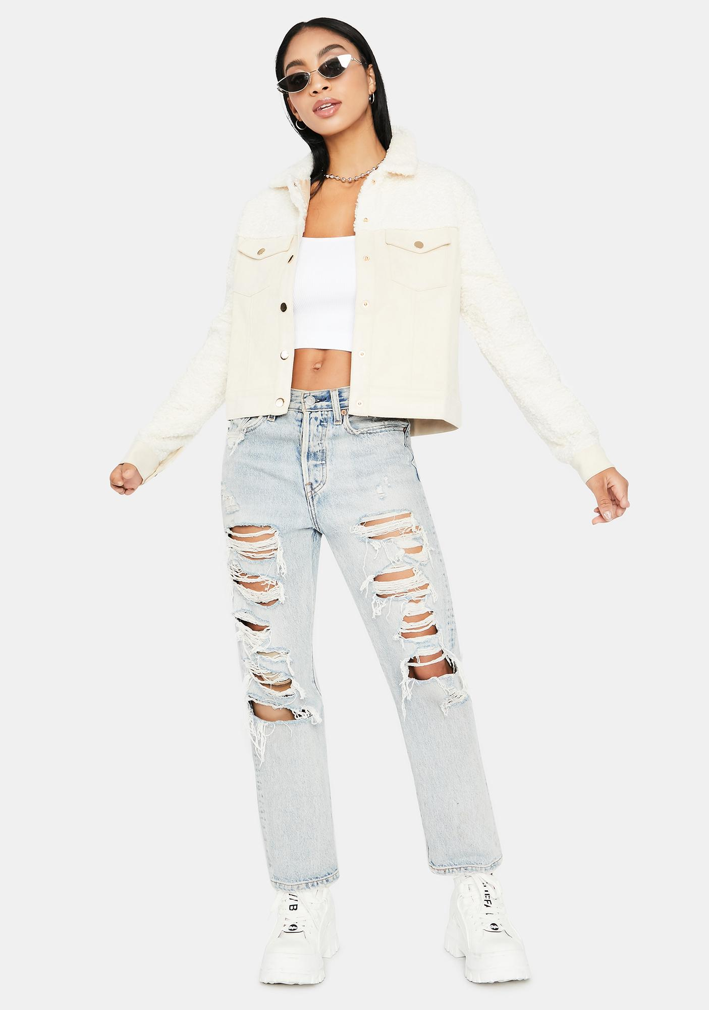Cream Cosmo Trucker Jacket