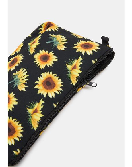 Sassy Sunflower Makeup Bag