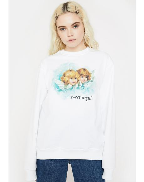 Sweet Angel Graphic Sweatshirt