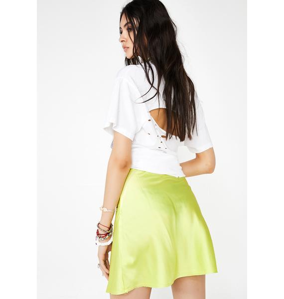 Flash Forward Silky Skirt