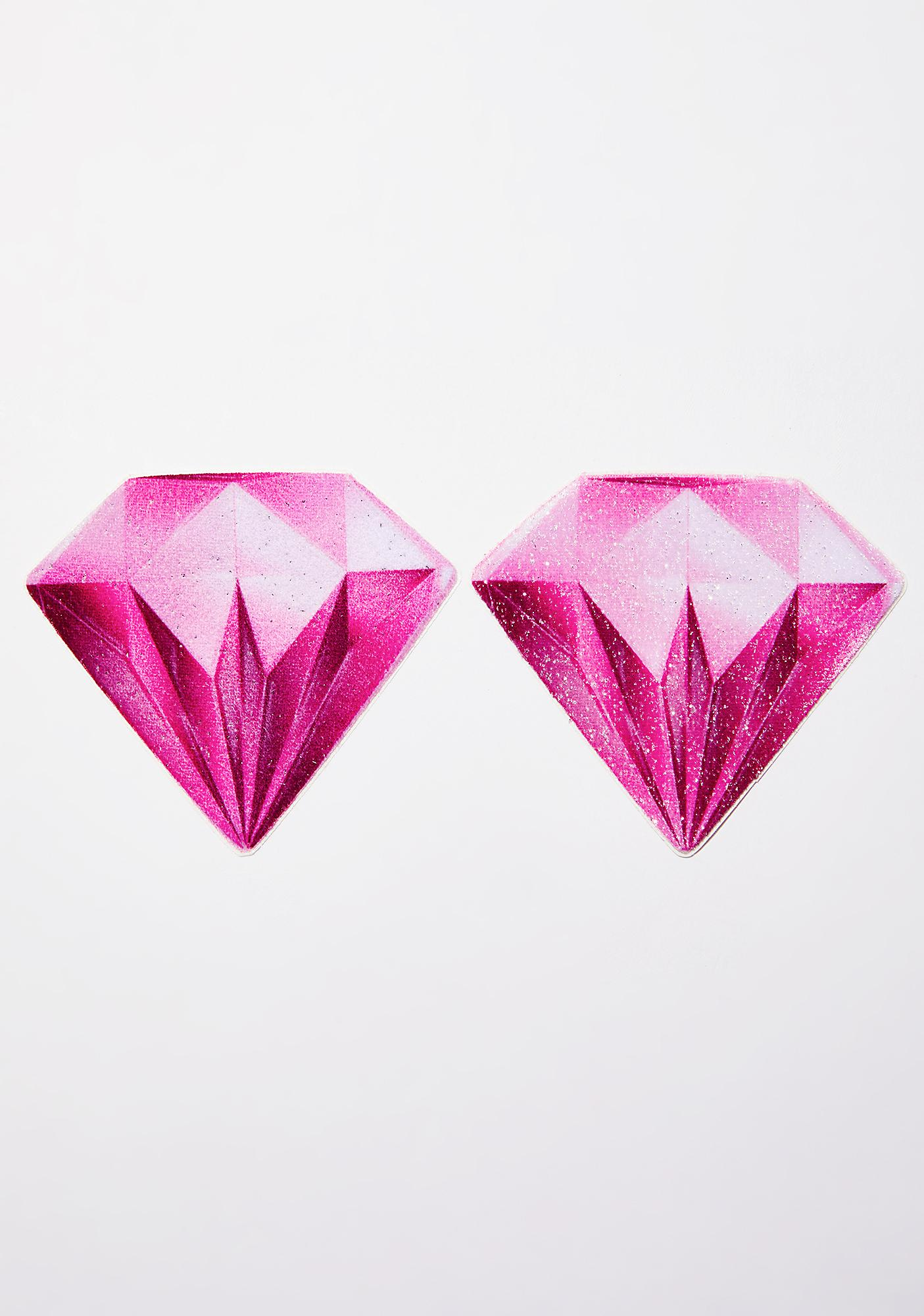 Pastease Pink Diamond Sparkling Velvet Pasties