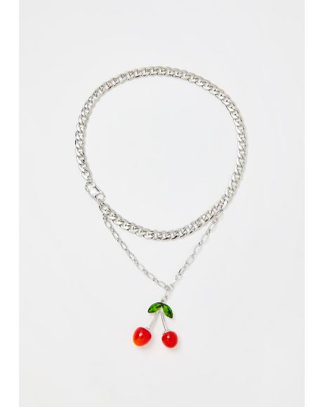 I Want Cherries Chain Necklace