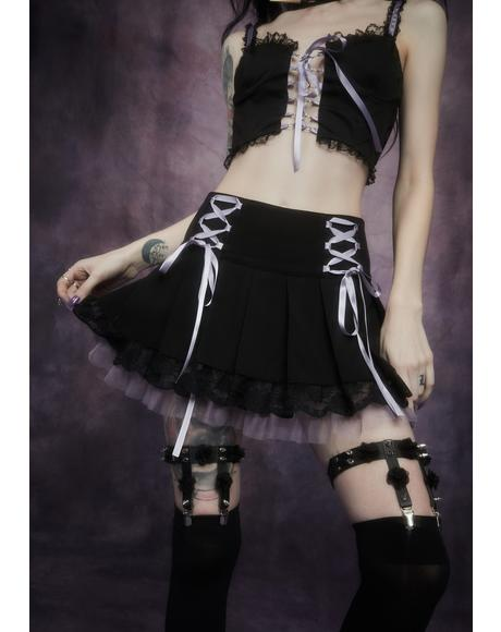 Of Minxes And Men Lace Up Twill Skirt