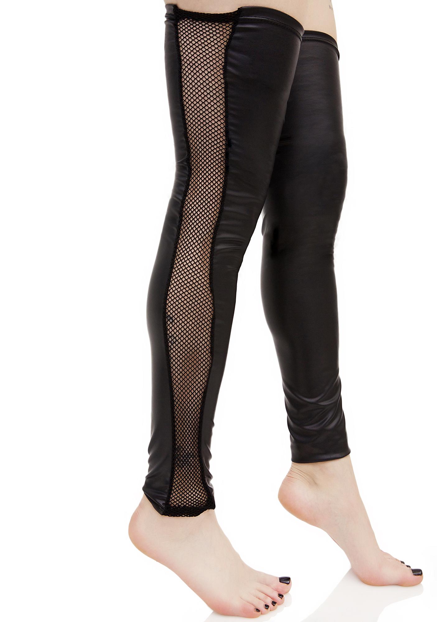 Spandex Fishnet Leg Warmers