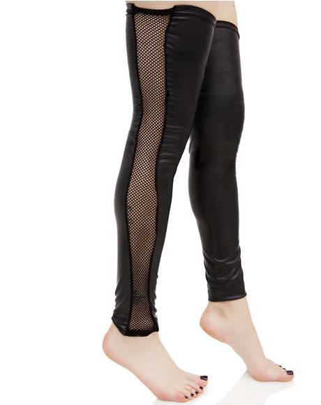 Crowd Pleaser Fishnet Leg Warmers