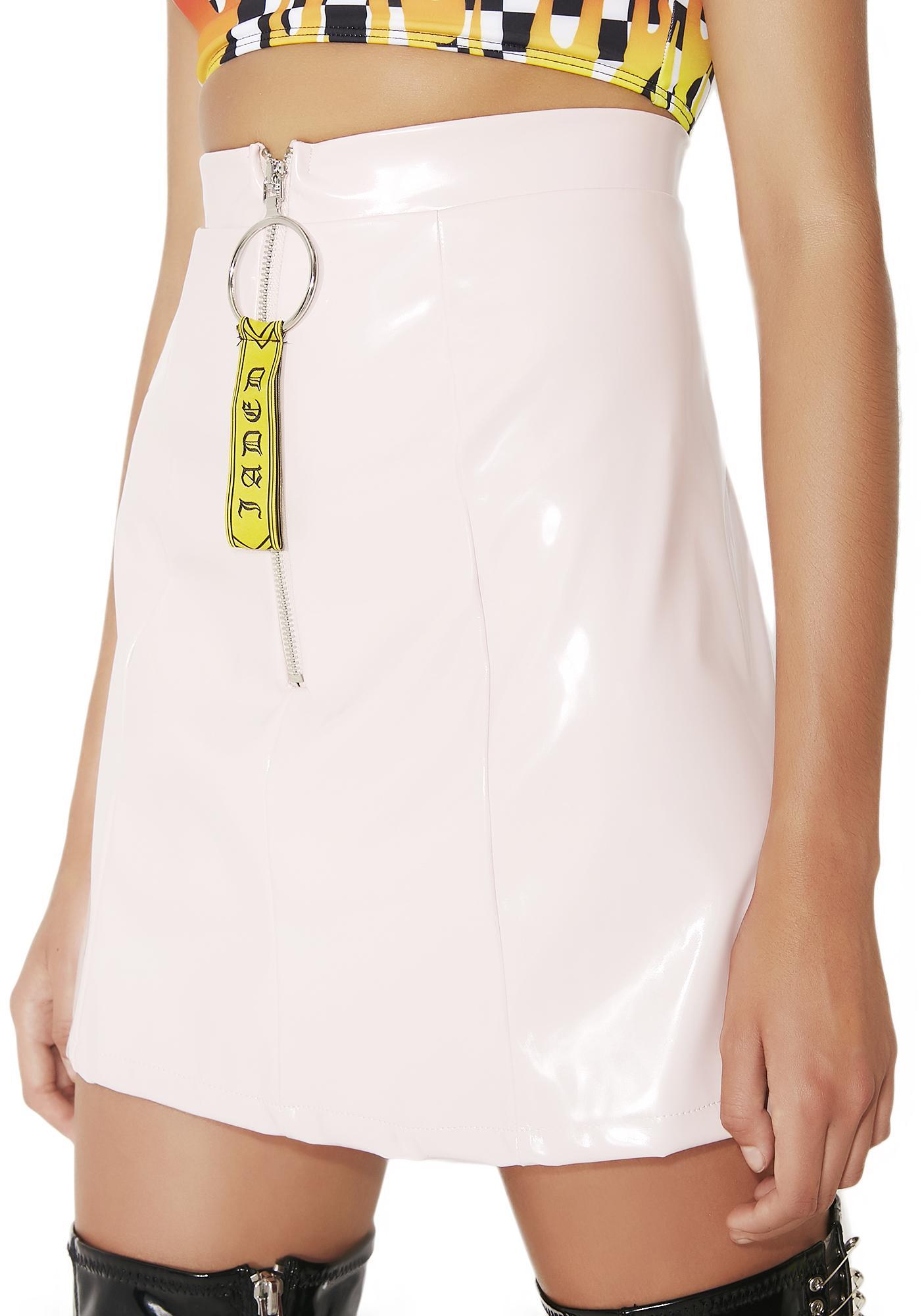 Jaded London Pink Patent Mini Skirt