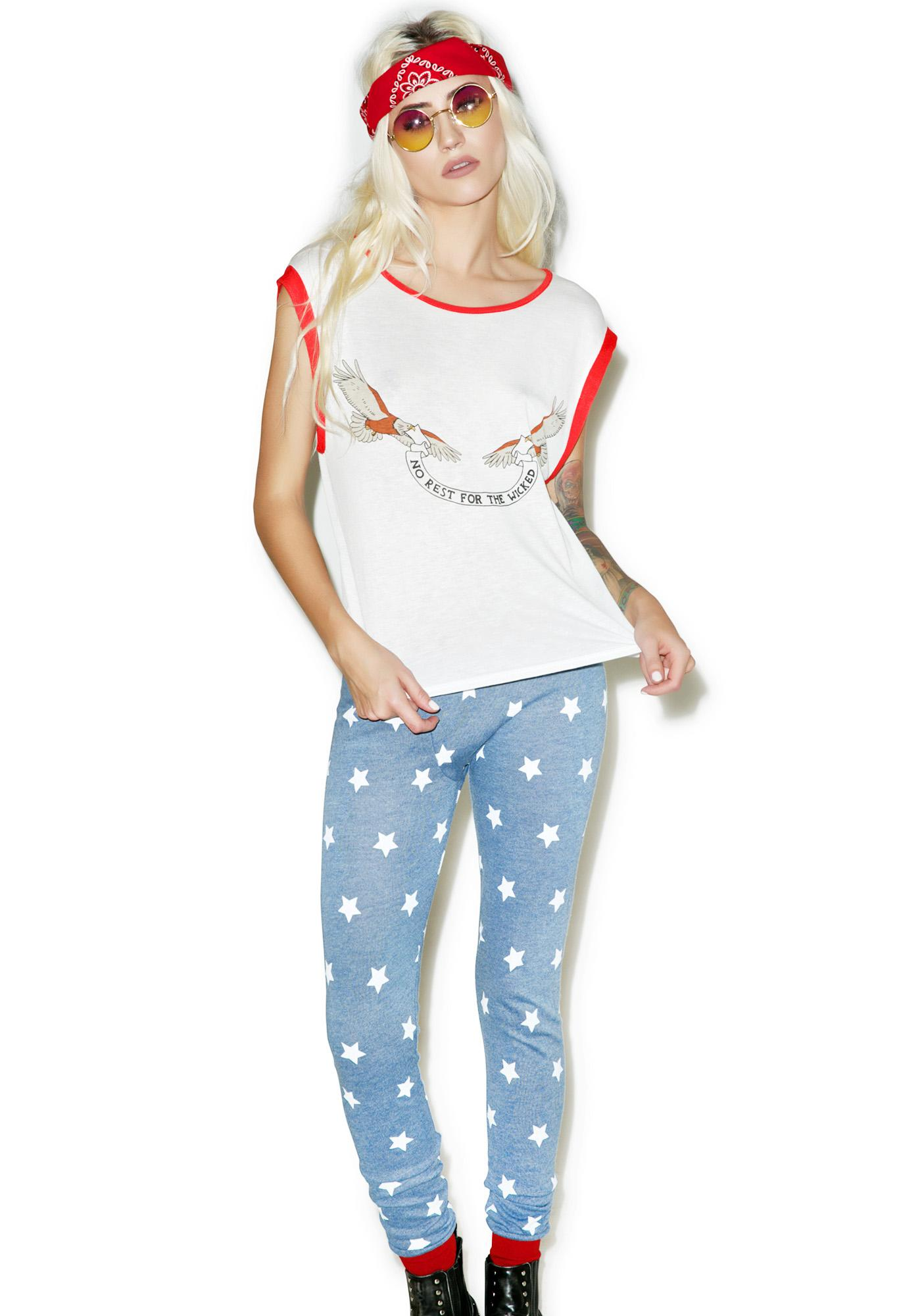 Mink Pink No Rest For The Wicked Tee