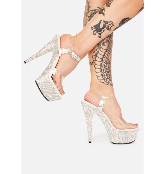 All That Glitters Platform Heels