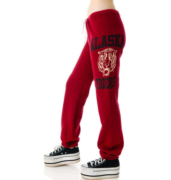 JET by John Eshaya Tiger Print Sweatpants