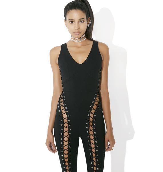 Showdown Lace-Up Bodysuit