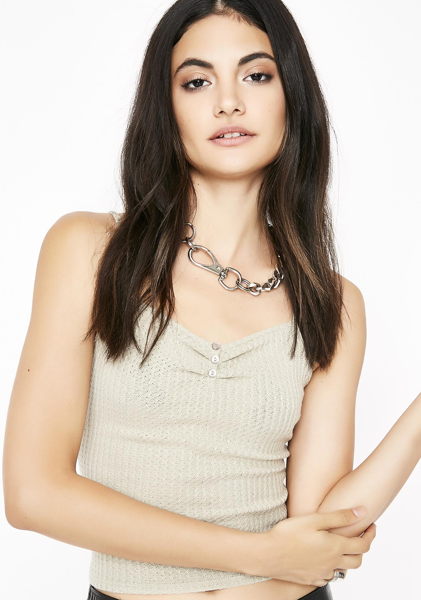 Sand Gone Overboard Knit Cami