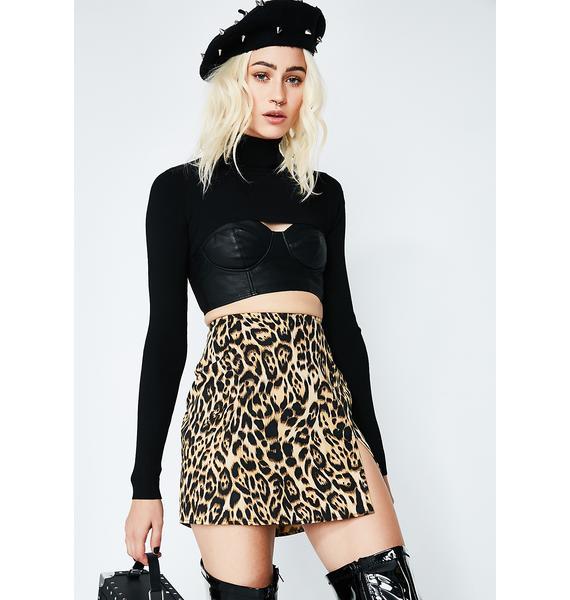 Motel Leopard Pelmet Skirt