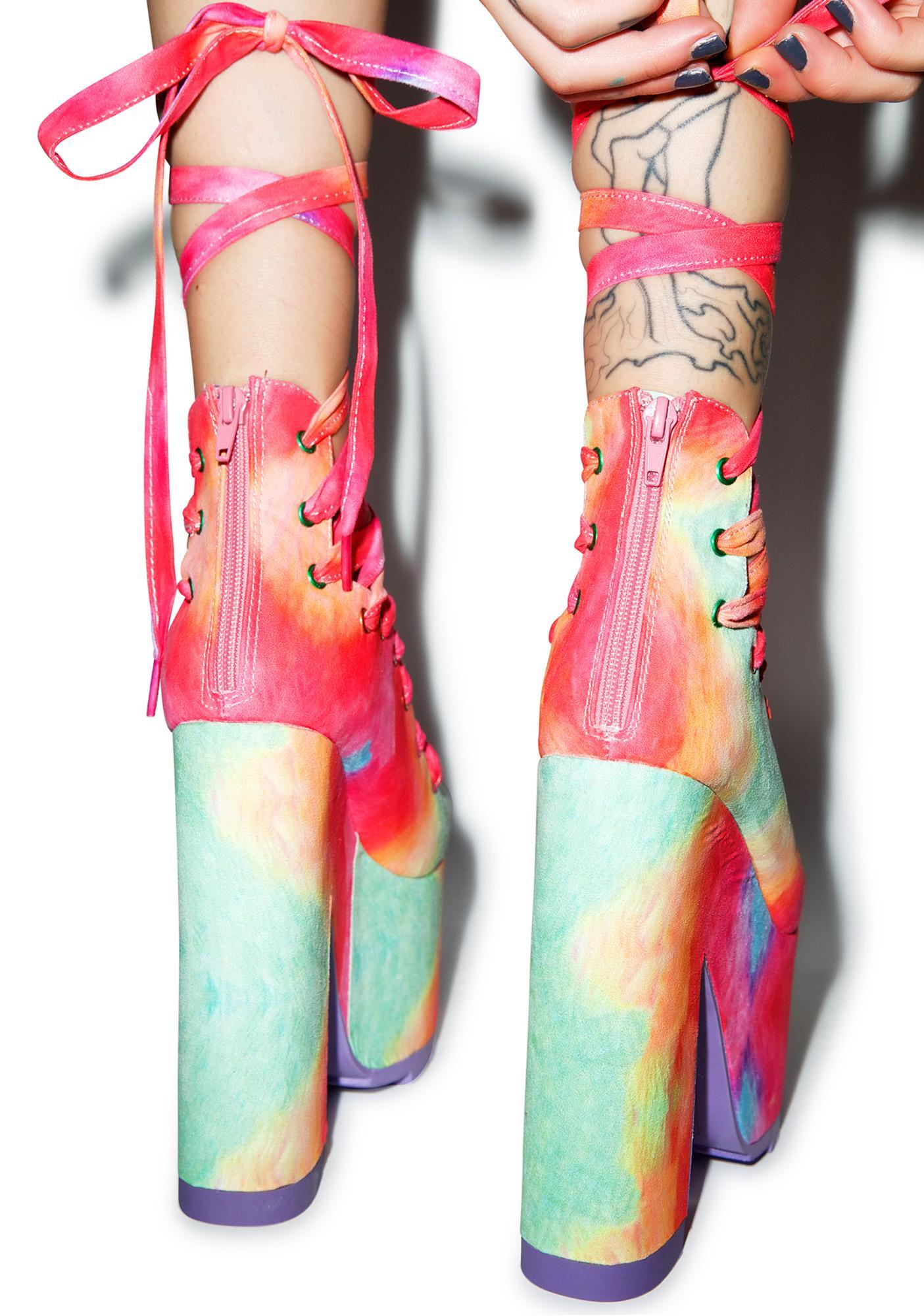 Y.R.U. Rainbow Ballet Bae Platforms