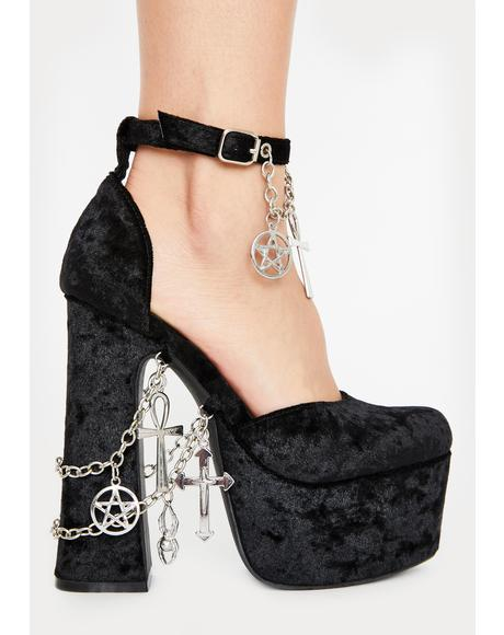 Betches Of Eastwick Platform Heels