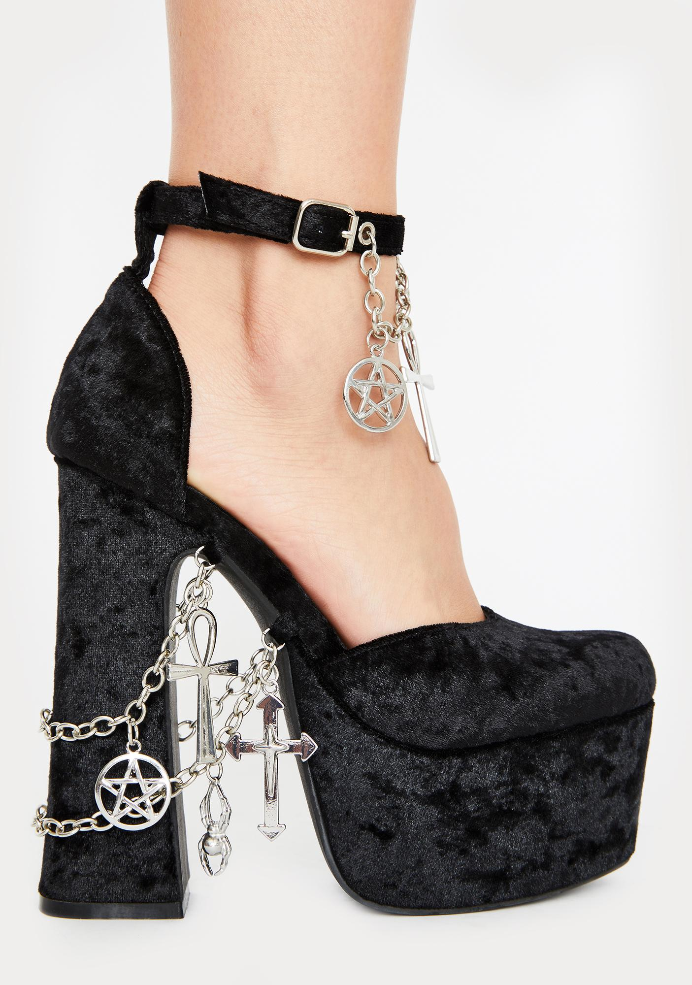 Dolls Kill x The Craft Betches Of Eastwick Platform Heels