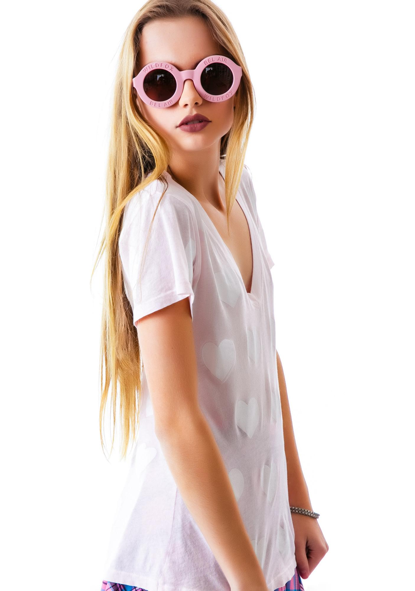 Wildfox Couture Falling In Love Classic V-Neck