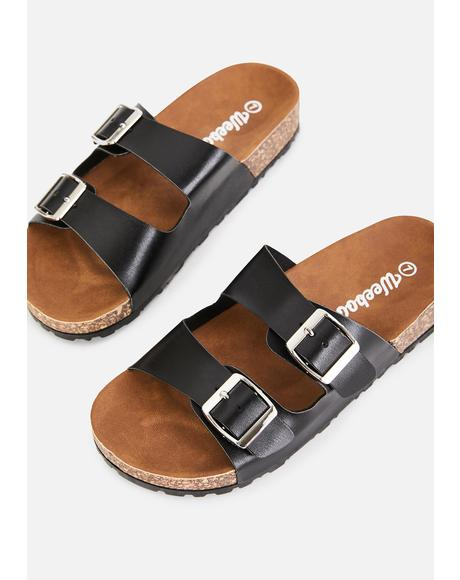 Night Sandy Paradise Buckle Sandals