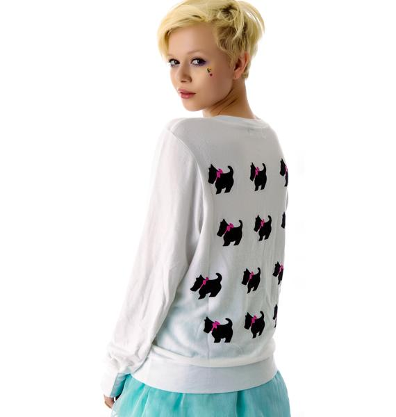 Wildfox Couture Black Dog Baggy Beach Jumper