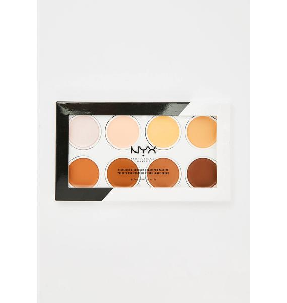 NYX Professional Makeup Highlight N' Contour Cream Pro Palette
