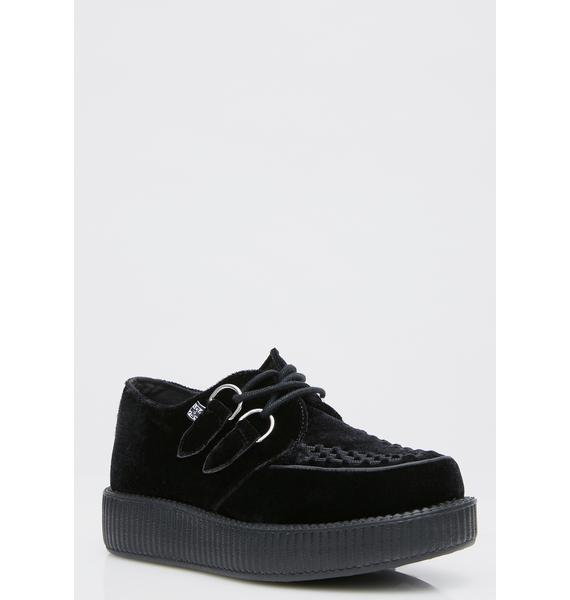 T.U.K. Velvet Viva Low Creepers