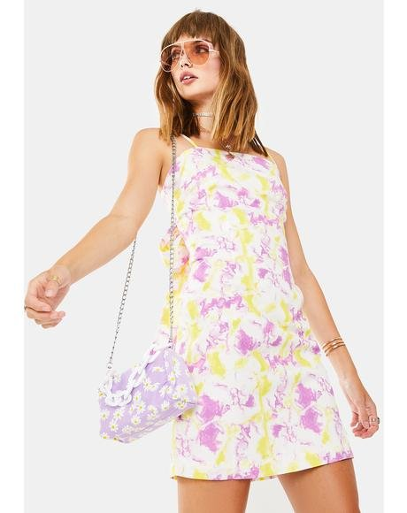 Pink Yellow Art Print Dress