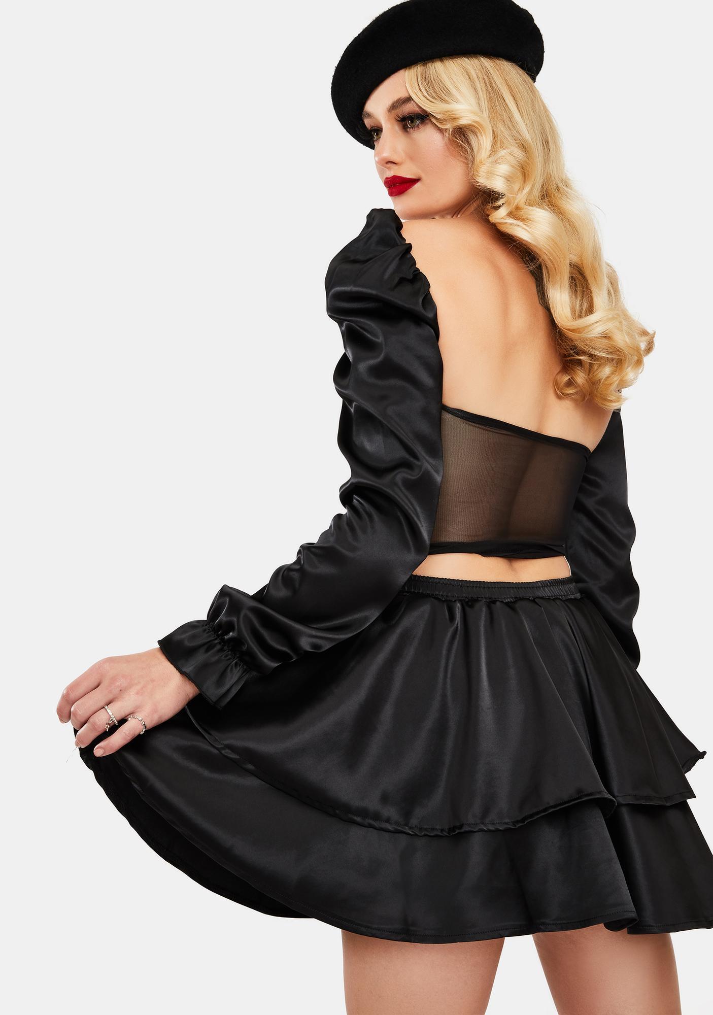 OW INTIMATES Julie Layered Satin Skirt