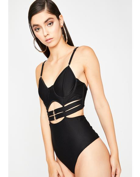 Onyx Lookin' Azz Cut Out Bodysuit