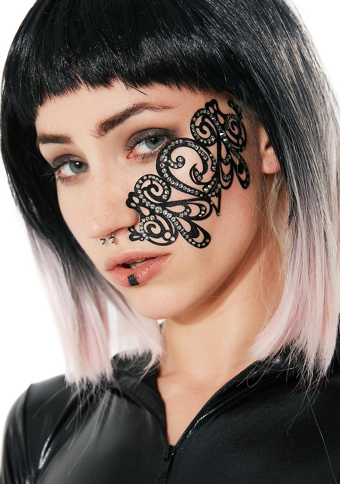 Black Lace Skin Jewelry Stash Body Jewelry