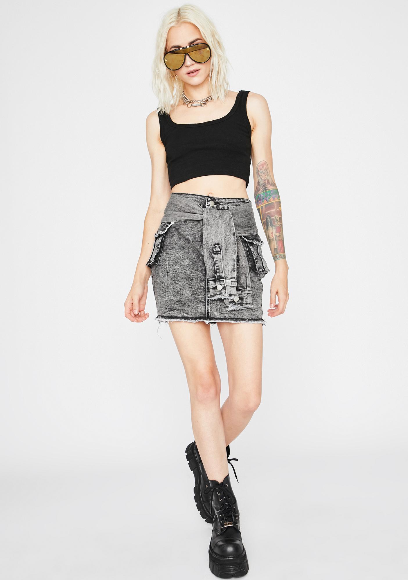 Smoke Keep It Kool Mini Skirt
