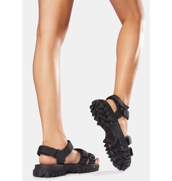 Fila Black Yak Chunky Sandals