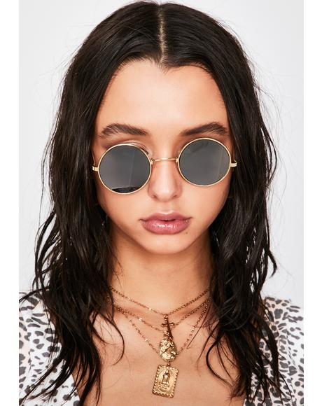 Inverted Round Sunglasses