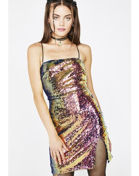 Oil Slick Lucky Dress