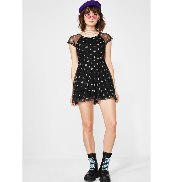 Fearless Illustration Odd One Out Skater Dress