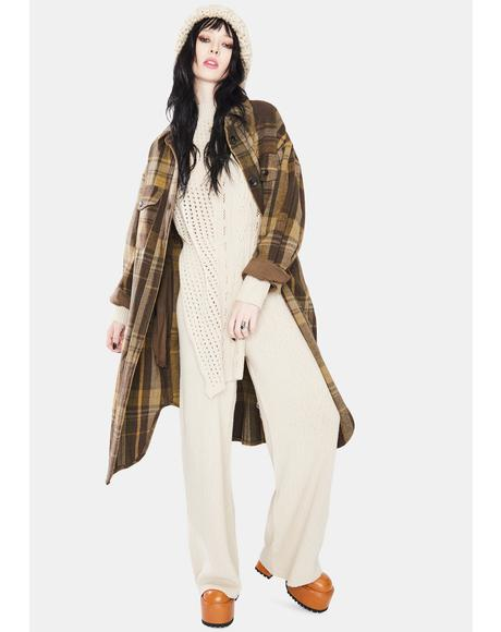 Harper Longline Sweater And Flared Pants Set
