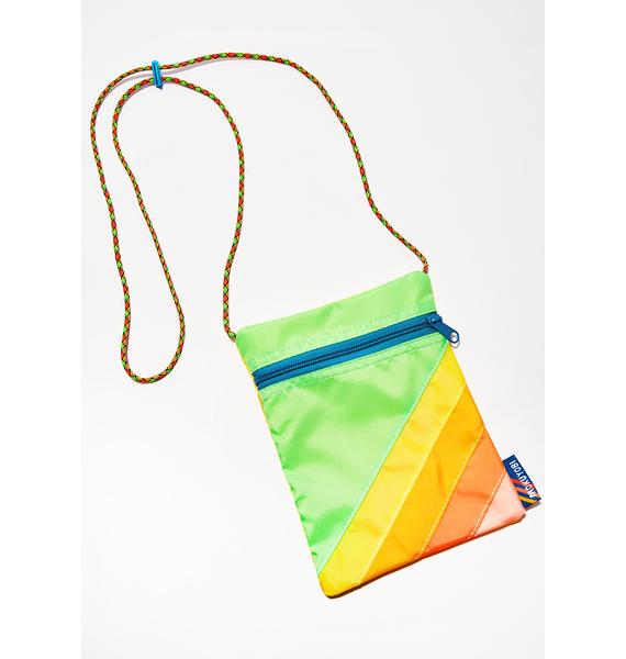 Mokuyobi Yellow Green Nylon Crossbody Bag