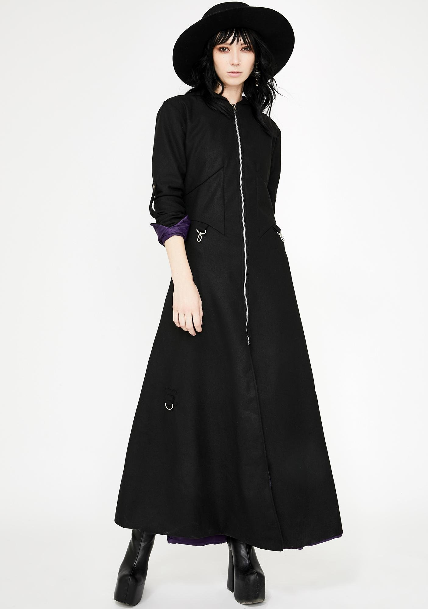Necessary Evil Purple Lined Selene Winter Coat