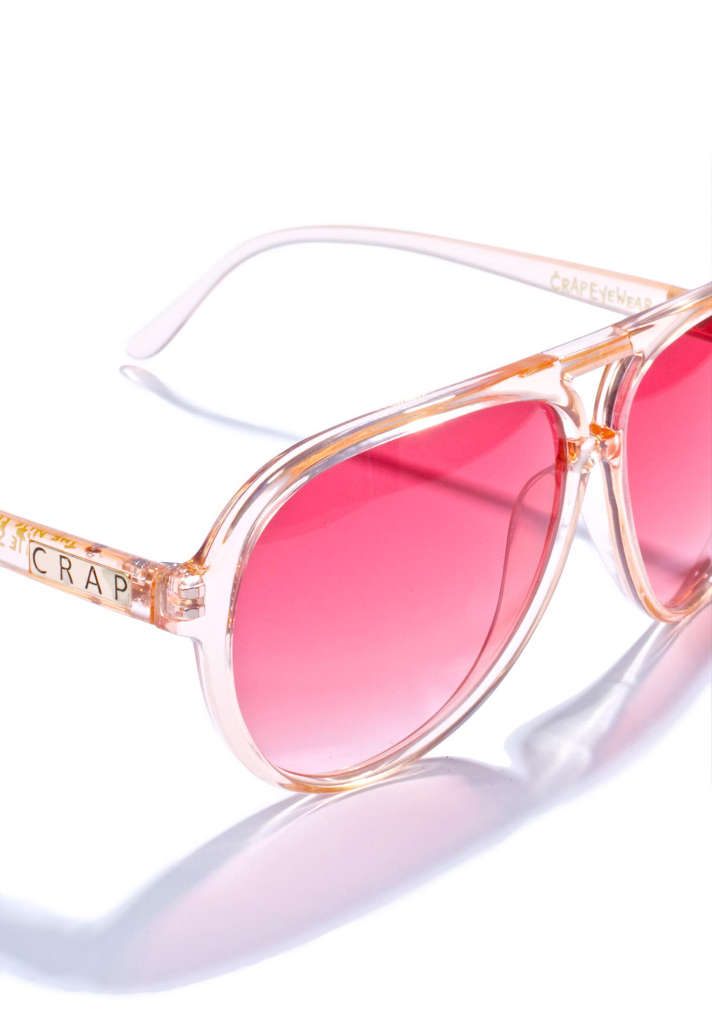 Crap Eyewear The Peachy Nite Shift Sunglasses