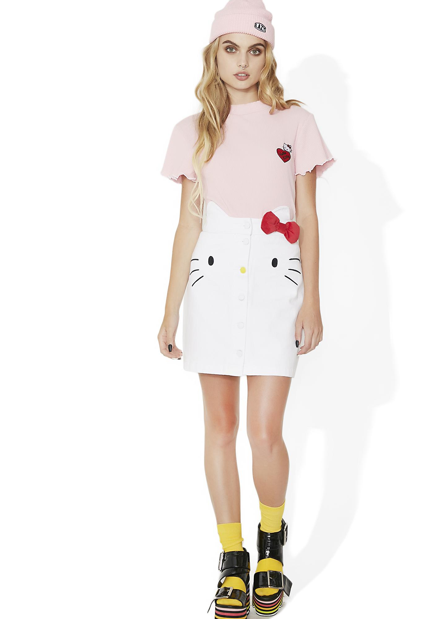 Lazy Oaf Hello Kitty Frilly T-Shirt