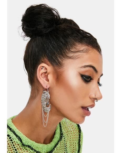 Moon Goddess Drop Earrings